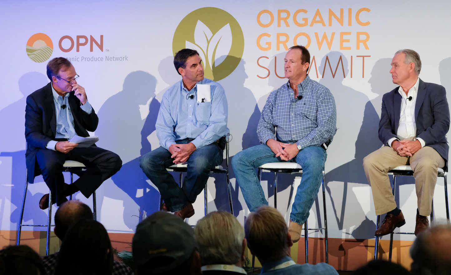 Image 3 - OGS Grower Roundtable (from left to right) - Scott LaRue, Piper Jaffray - Stan Pura, Mission Ranches, Jeff Huckaby - Grimmway Farms, Victor Smith - J.V. Farms